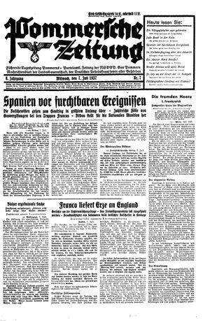 Pommersche Zeitung vom 07.07.1937