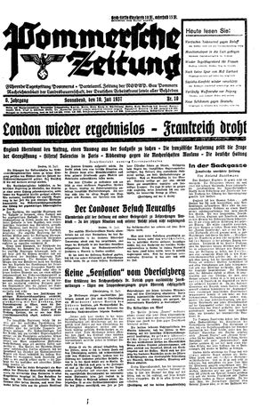 Pommersche Zeitung vom 10.07.1937