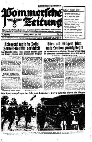 Pommersche Zeitung vom 12.07.1937