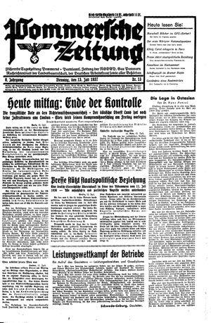 Pommersche Zeitung vom 13.07.1937