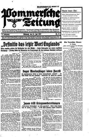 Pommersche Zeitung vom 14.07.1937