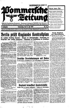Pommersche Zeitung vom 15.07.1937