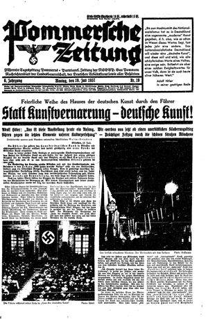 Pommersche Zeitung vom 19.07.1937