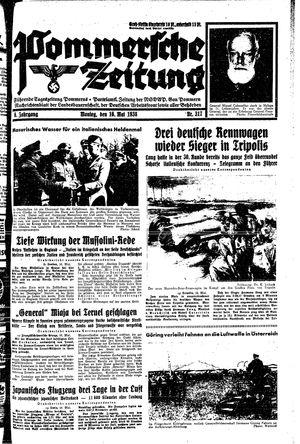 Pommersche Zeitung vom 16.05.1938