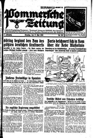 Pommersche Zeitung vom 17.05.1938