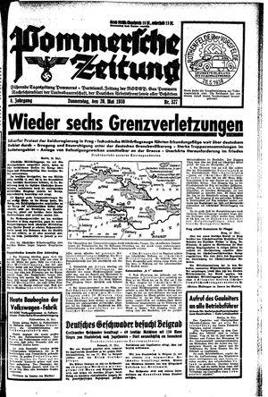 Pommersche Zeitung vom 26.05.1938
