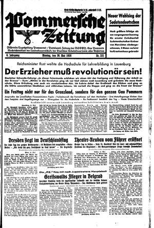 Pommersche Zeitung vom 30.05.1938