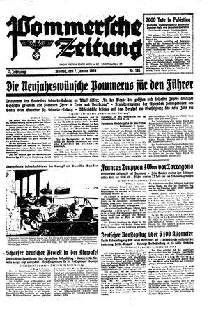 Pommersche Zeitung vom 02.01.1939