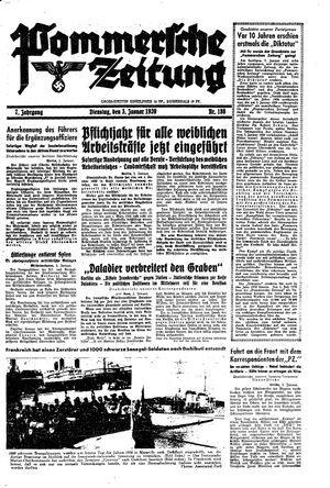 Pommersche Zeitung vom 03.01.1939