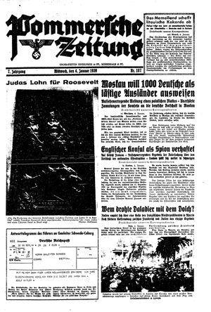 Pommersche Zeitung vom 04.01.1939