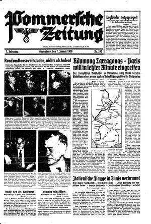 Pommersche Zeitung vom 07.01.1939