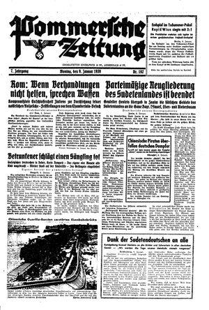 Pommersche Zeitung vom 09.01.1939