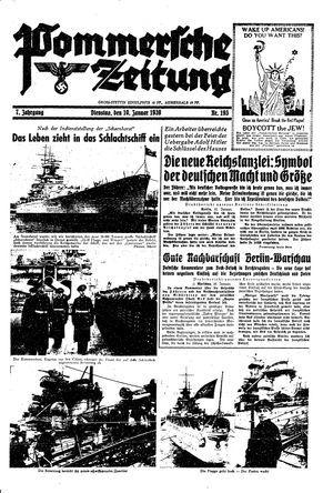 Pommersche Zeitung vom 10.01.1939