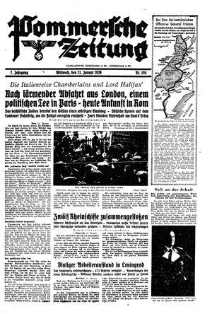 Pommersche Zeitung vom 11.01.1939
