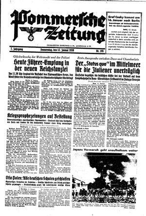 Pommersche Zeitung on Jan 12, 1939