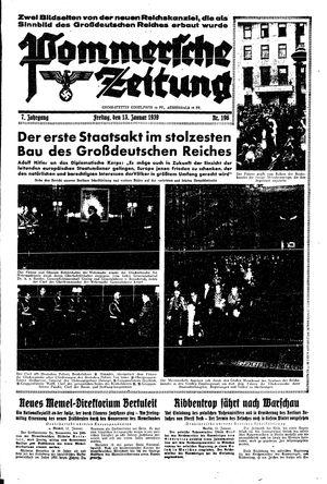Pommersche Zeitung vom 13.01.1939