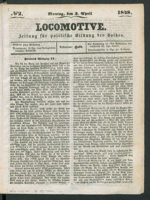 Locomotive vom 03.04.1848