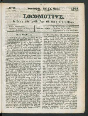 Locomotive vom 13.04.1848