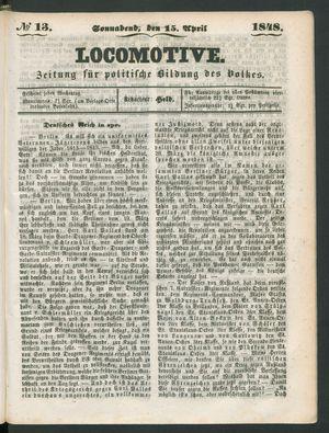 Locomotive on Apr 15, 1848