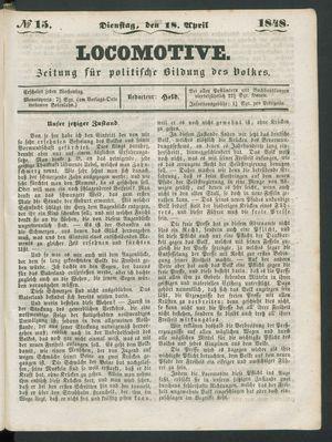 Locomotive vom 18.04.1848