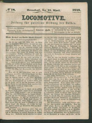 Locomotive vom 22.04.1848