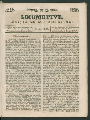 Locomotive vom 26.04.1848