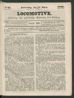 Locomotive vom 27.04.1848