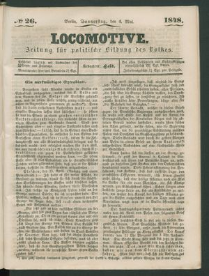 Locomotive vom 04.05.1848