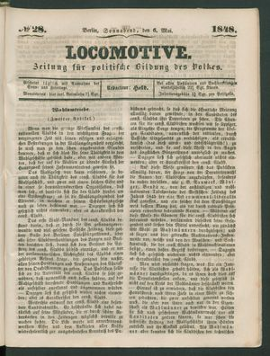 Locomotive vom 06.05.1848