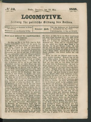 Locomotive vom 12.05.1848