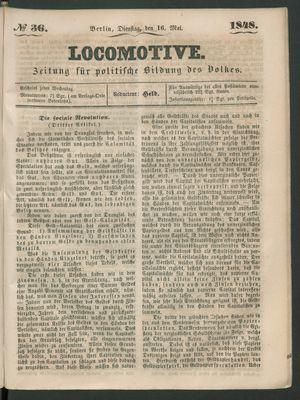Locomotive vom 16.05.1848