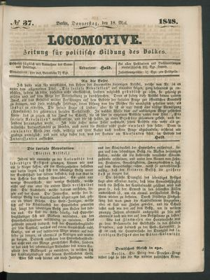 Locomotive vom 18.05.1848