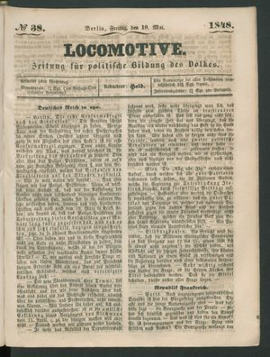 Locomotive vom 19.05.1848