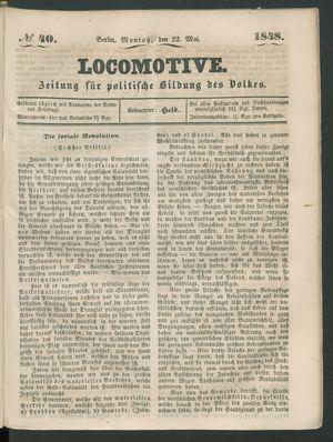 Locomotive vom 22.05.1848