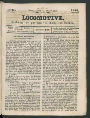 Locomotive vom 23.05.1848