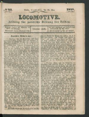 Locomotive vom 25.05.1848