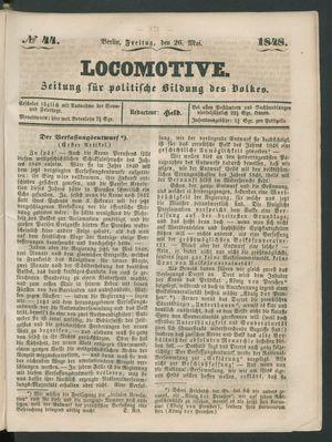 Locomotive vom 26.05.1848
