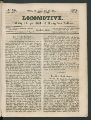 Locomotive vom 29.05.1848