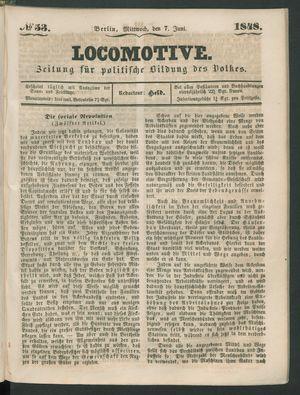 Locomotive vom 07.06.1848