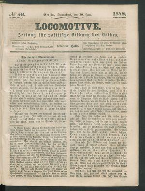 Locomotive vom 10.06.1848