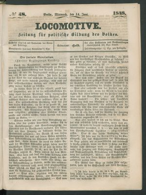 Locomotive vom 14.06.1848
