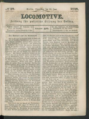 Locomotive vom 15.06.1848