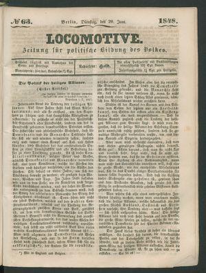 Locomotive vom 20.06.1848