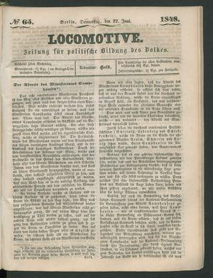 Locomotive vom 22.06.1848