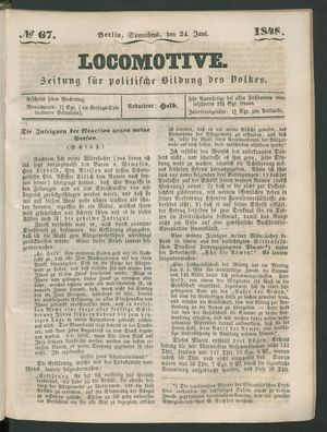 Locomotive vom 24.06.1848