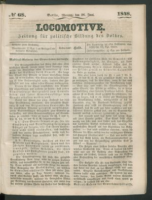 Locomotive on Jun 26, 1848