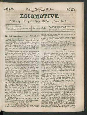 Locomotive vom 27.06.1848