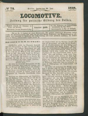 Locomotive vom 30.06.1848