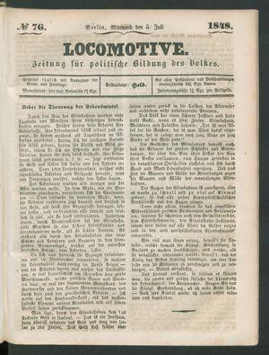 Locomotive vom 05.07.1848