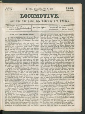 Locomotive vom 06.07.1848